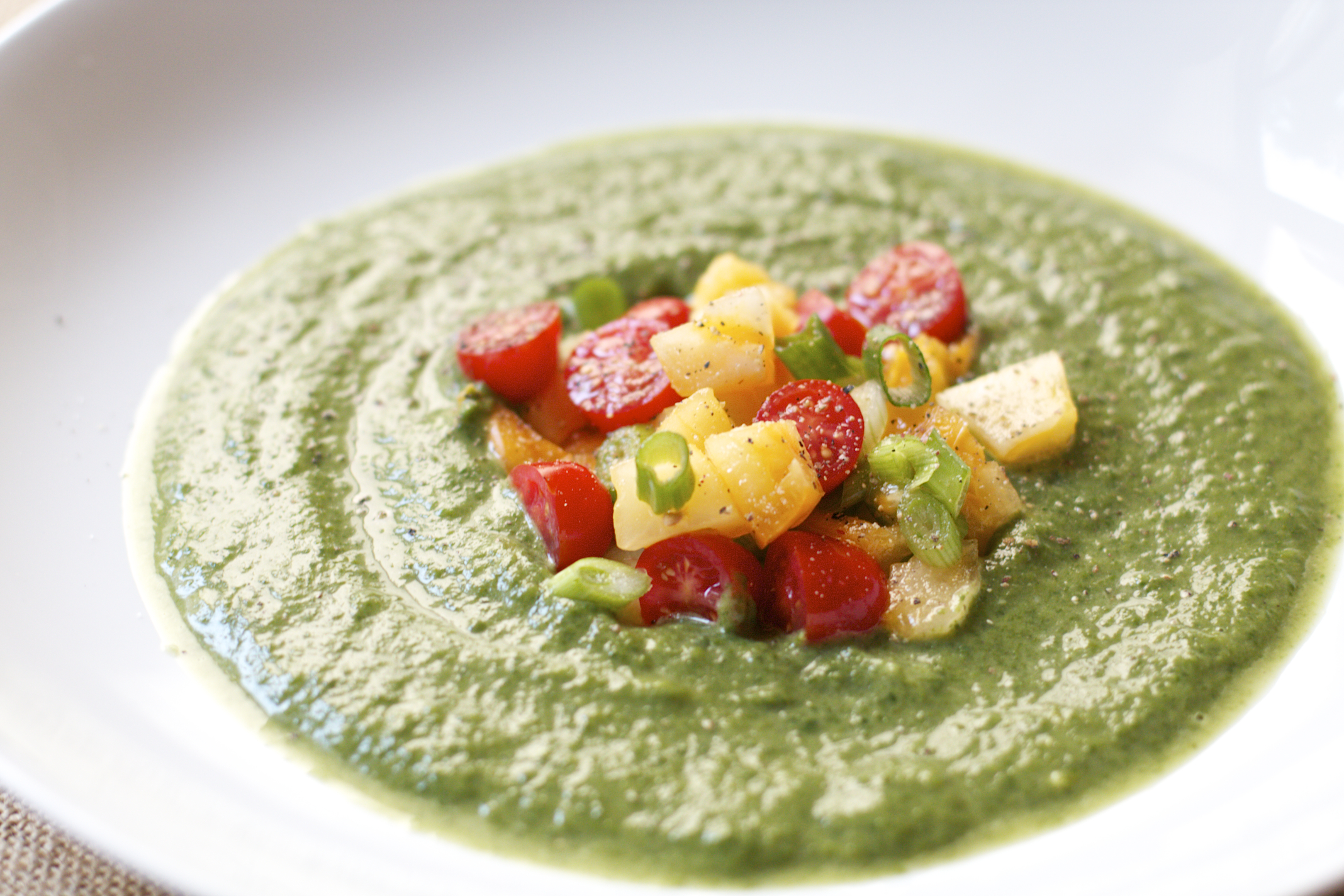 Creamy Spinach Avocado Soup