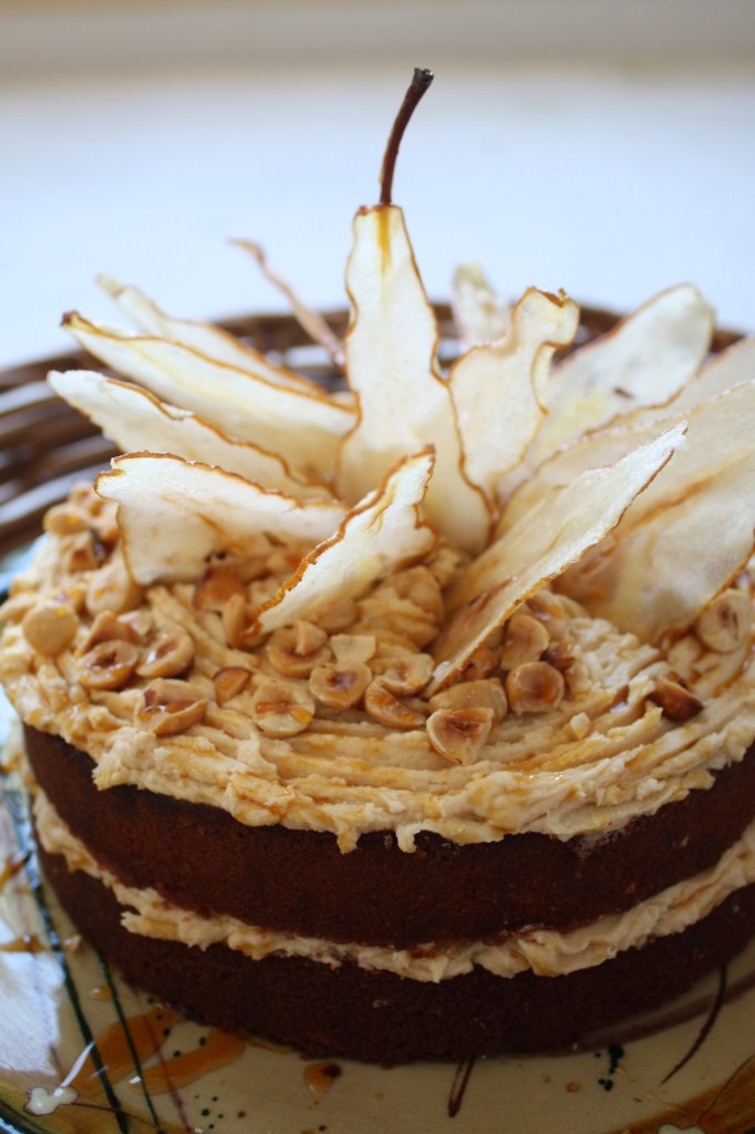 Daring Bakers:  Caramel Cake with Caramelized Brown Butter Frosting