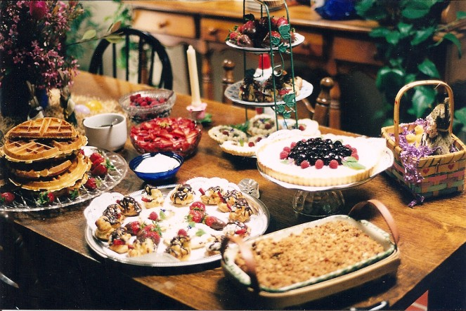 The dessert spread