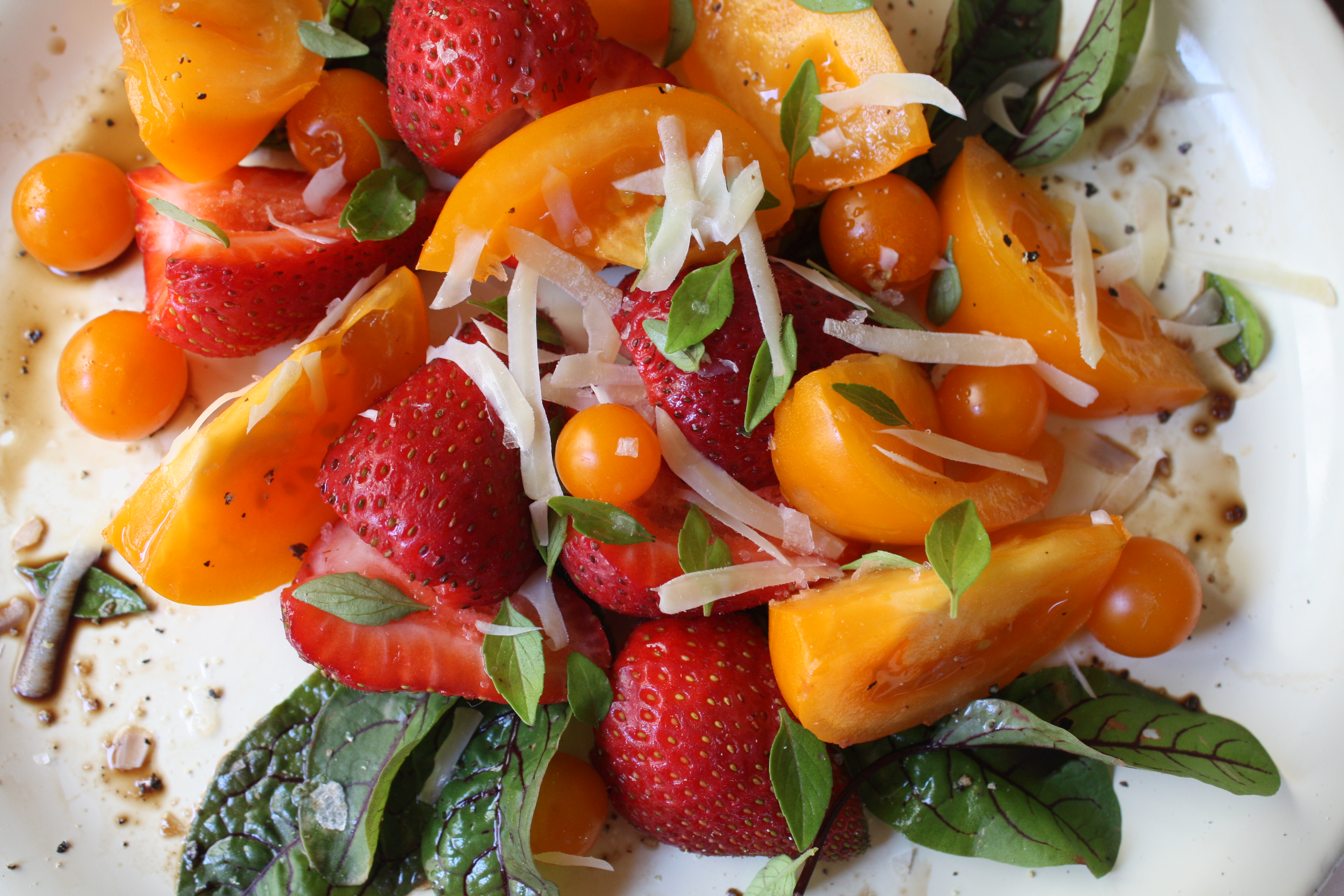 Bittman Salad 13:  Strawberries and Tomatoes