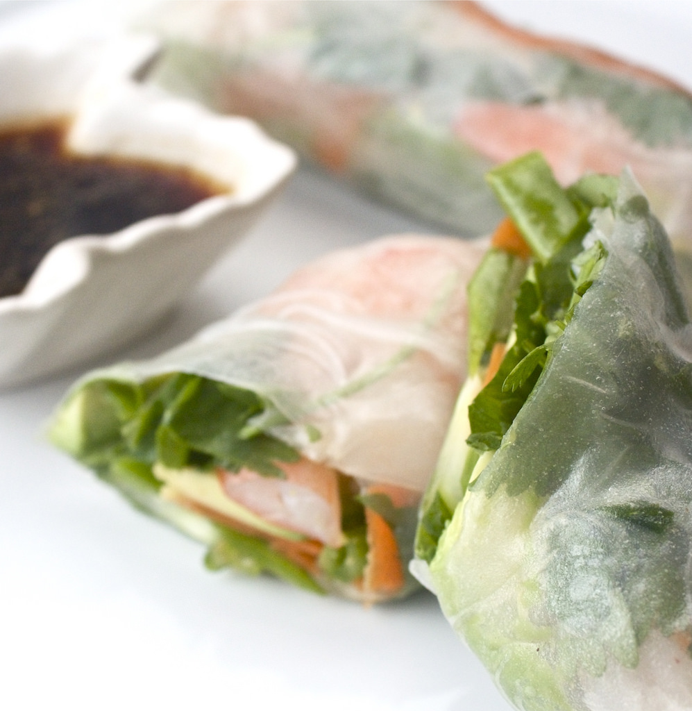 Shrimp and Vegetable Spring Rolls
