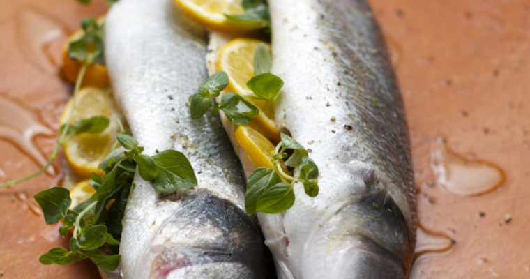 Roasted Branzino with Lemon, Oregano, and Capers