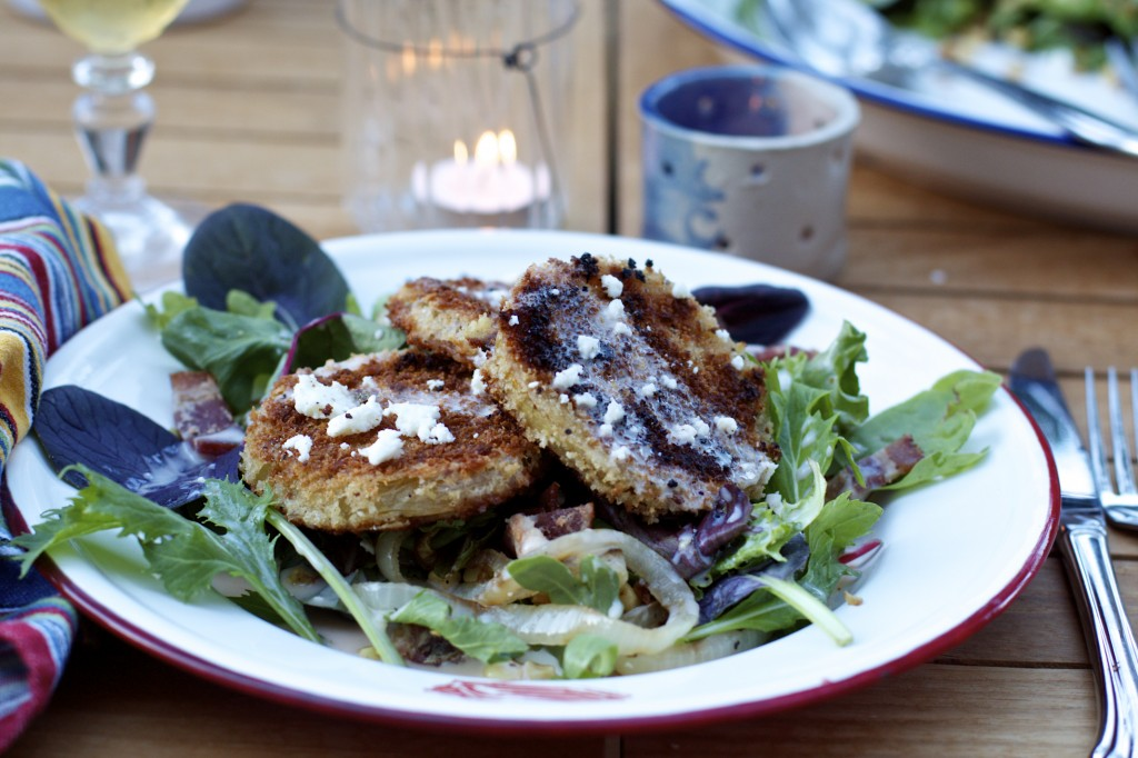 "<img alt=""Fried Green Tomato Salad with Grilled Onions and Corn"" />"