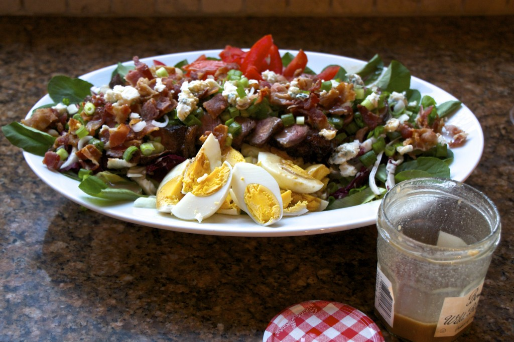 "<img alt=""cobb style steak salad""/."