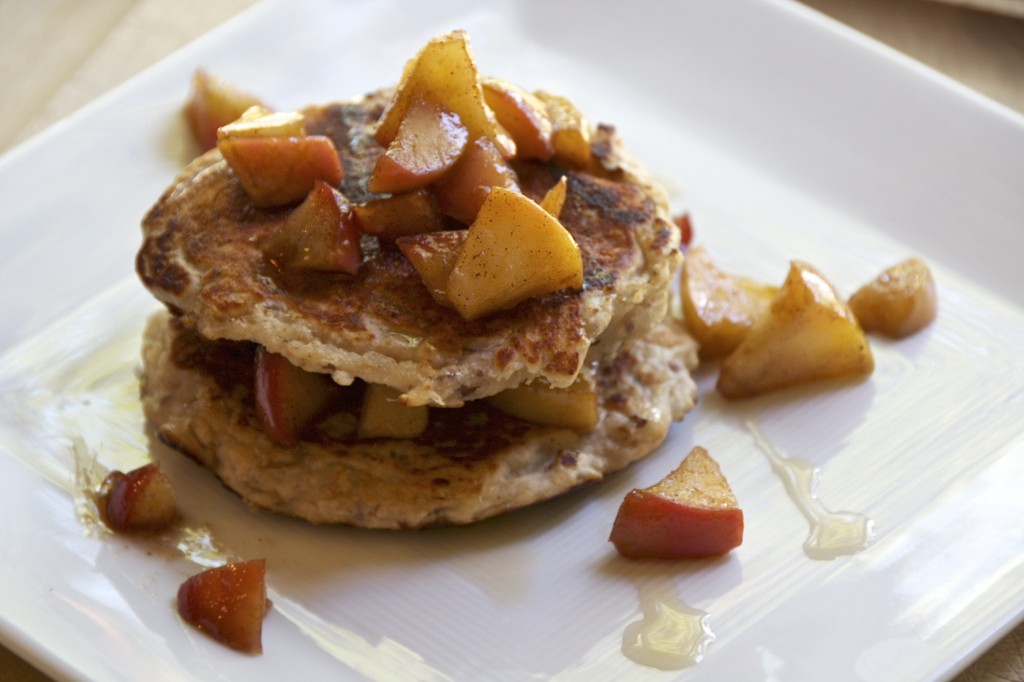 "<img alt=""pancakes with skillet apples""/>"