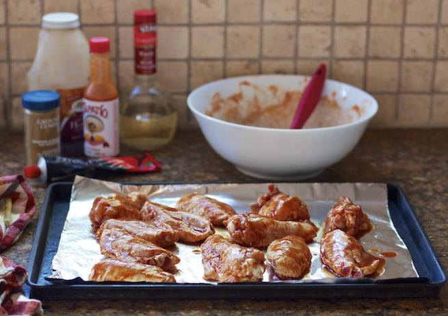 "<img alt=""making baked hot wings""/>"
