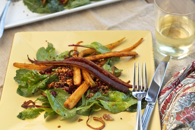Roasted Spiced Carrot and Quinoa Salad