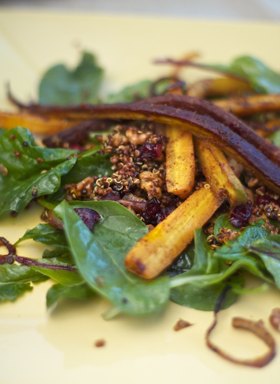 Post image for Roasted Spiced Carrot and Quinoa Salad