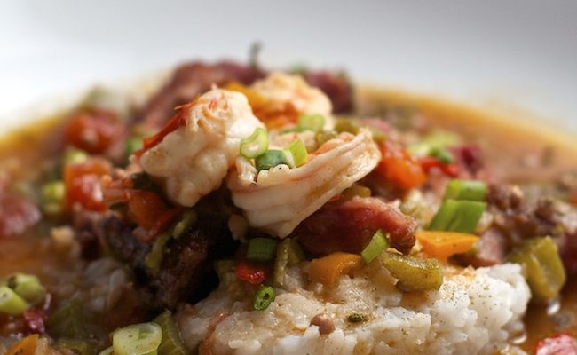 Gumbo with Ham Hock and Shrimp