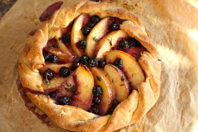 ... peach blueberry go ahead serve and enjoy peach and blueberry galette