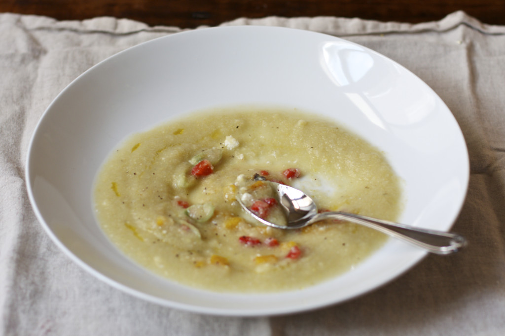 "<img alt=""Cauliflower Soup with Roasted Pepper and Feta""/>"