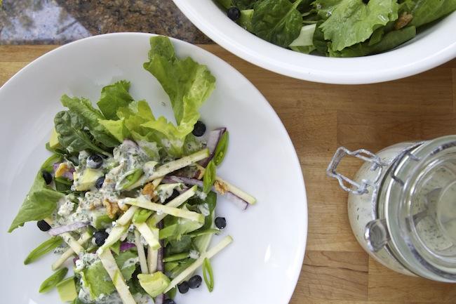 "<img alt=""Green Salad with Blueberries, Apples & Mustard Chive Vinaigrette""/>"