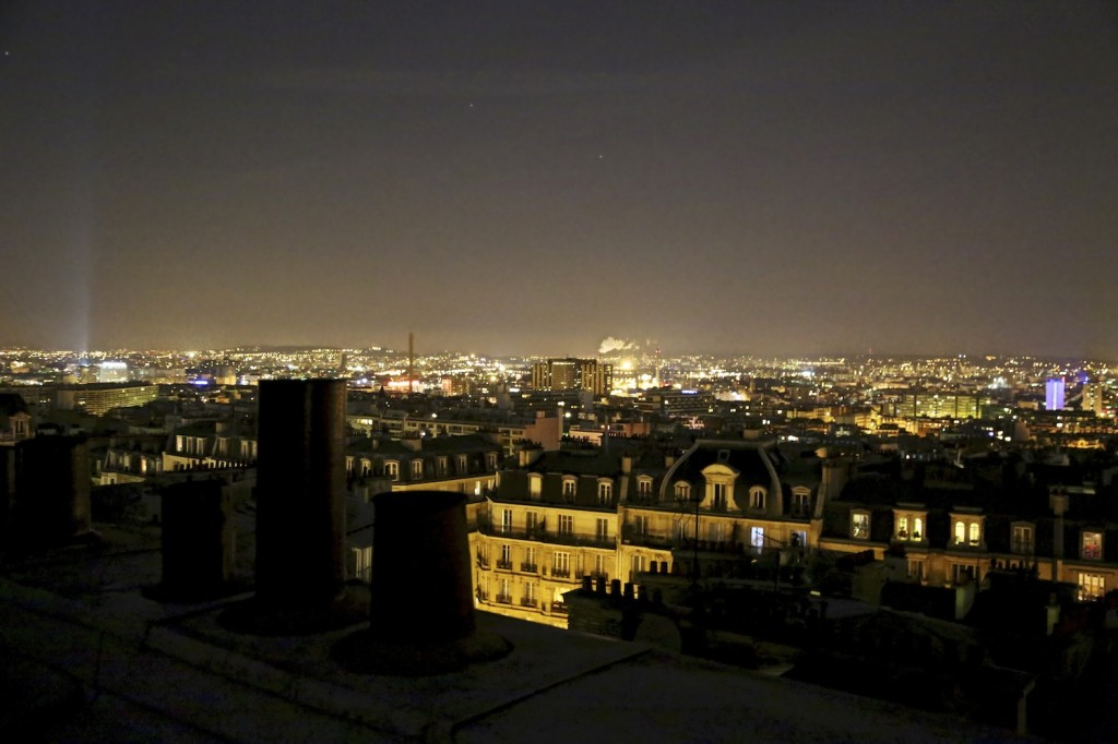 Paris at night from Montmartre