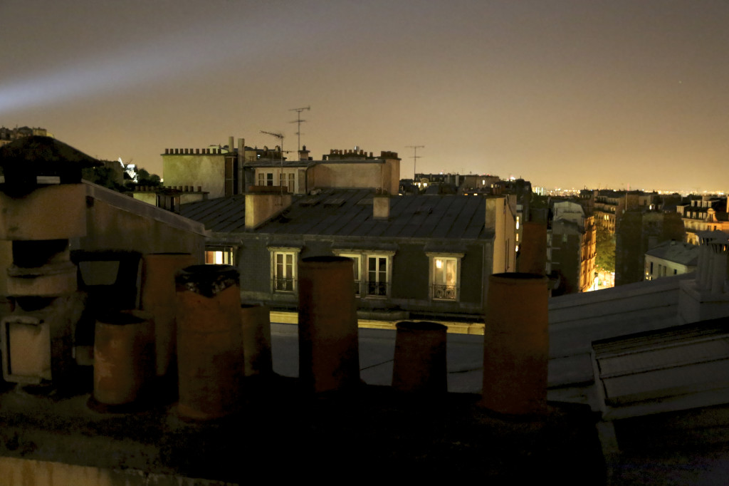 Paris nighttime rooftops