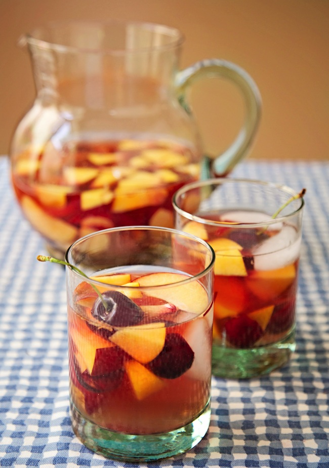 Rosé Sangria with Summer Stone Fruit - sass & veracity
