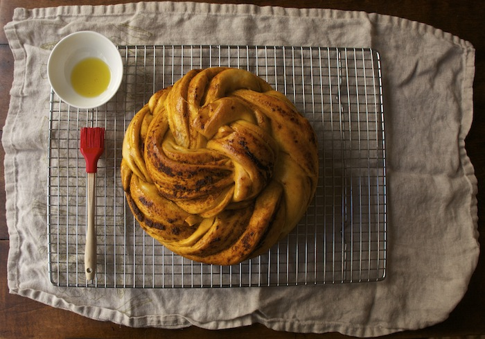 Russian Braided Bread with Sun Dried Tomato Pesto