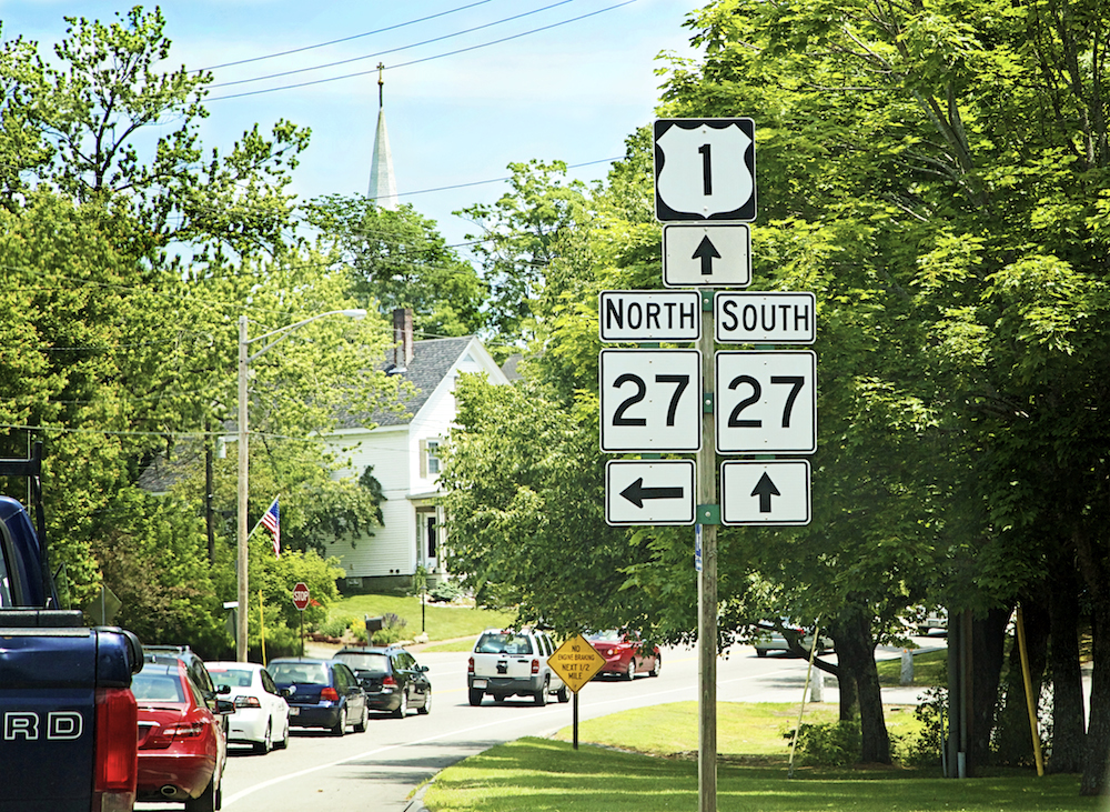 North on US 1 - Maine