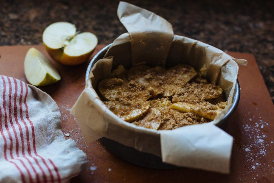 """<alt img=""""Dorset Apple Cake Ready for Oven""""/>"""